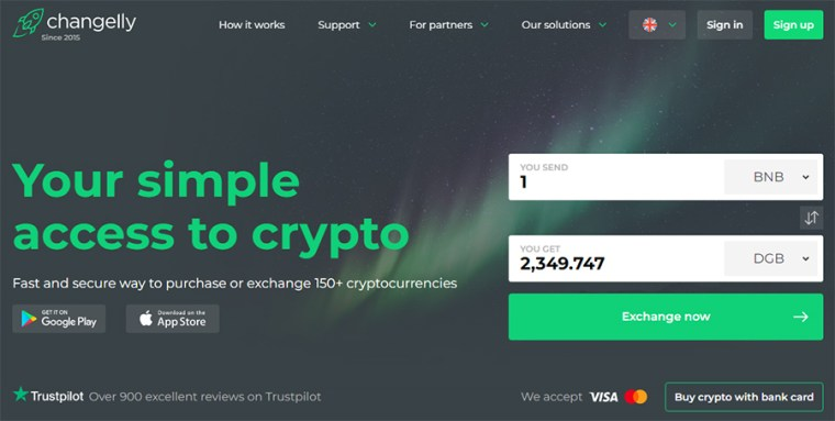 Changelly Crypto Exchange