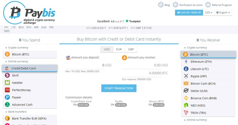 Paybis Buy Bitcoin