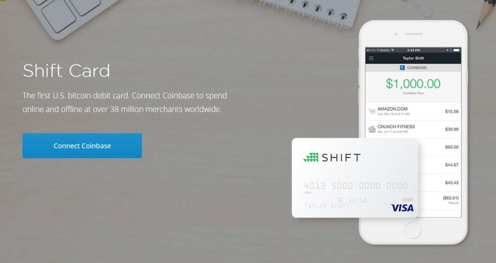 Shift Bitcoin debit card