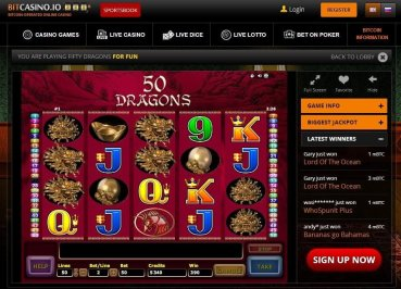 Choose from a wide range of slots