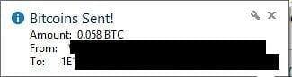 Send your bitcoin