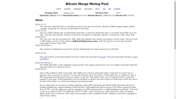 Infrequently updated mining pool news