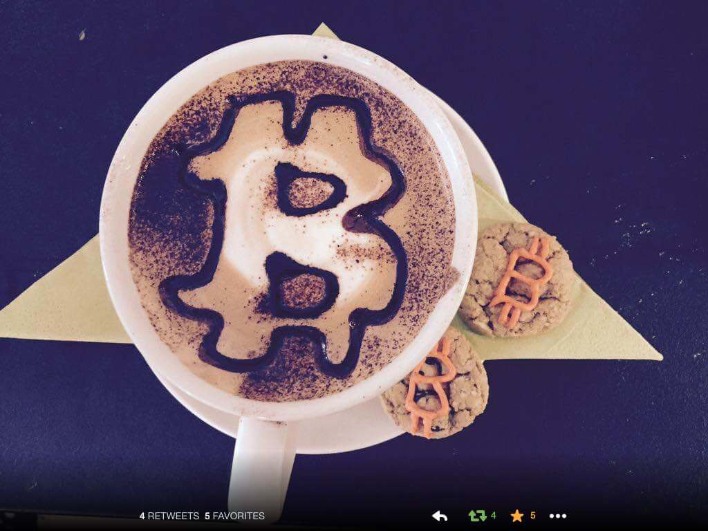 Bitcoin coffee, now in Belfast ;p - Credit BANI.org.uk