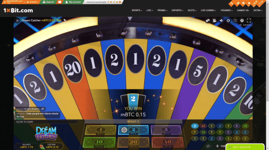 A win on dream wheel