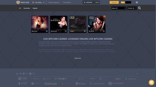 trustdice live casino