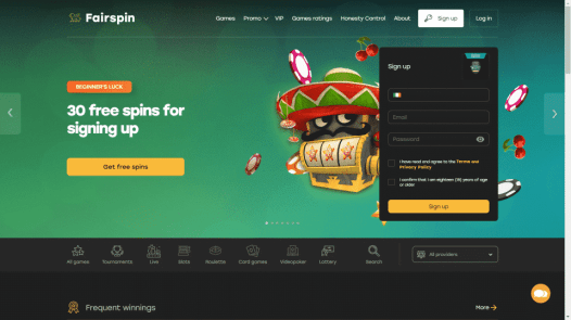 Fairspin Homepage