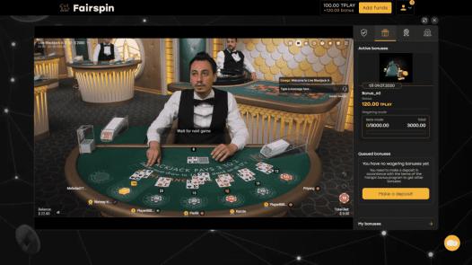 Live Blackjack on Fairspin