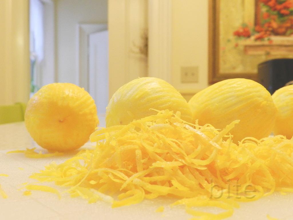 Fresh Lemon Zest In Syrup