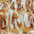 fast cinnamon buns with frosting