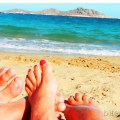 our last soak in the Paros sun