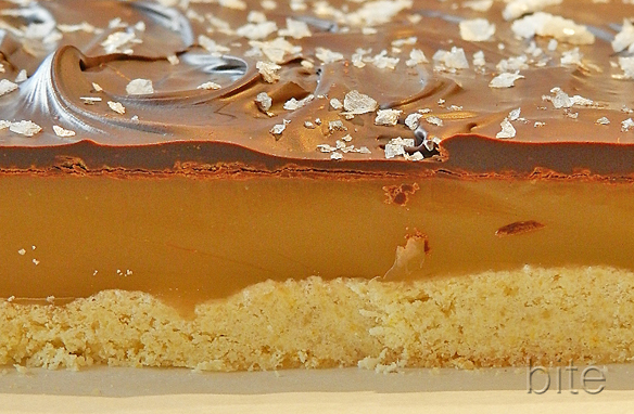 salted caramel dark chocolate shortbread bites