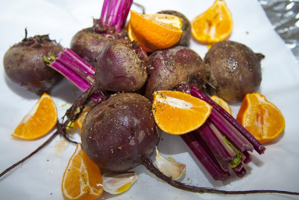 roasted beets with clementines and garlic – carrying on
