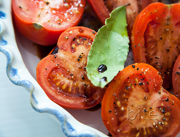 slow roasted plum tomatoes