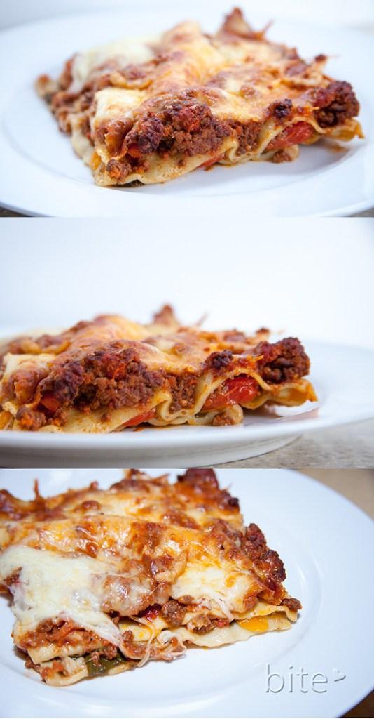 cheesy chunky sausage lasagna