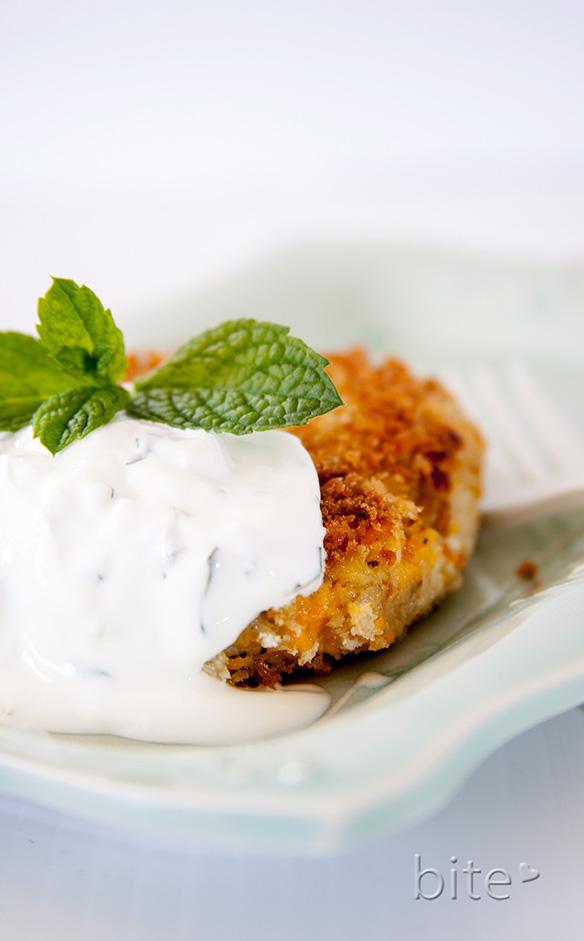 Eggplant Fritters / www.bitebymichelle.com