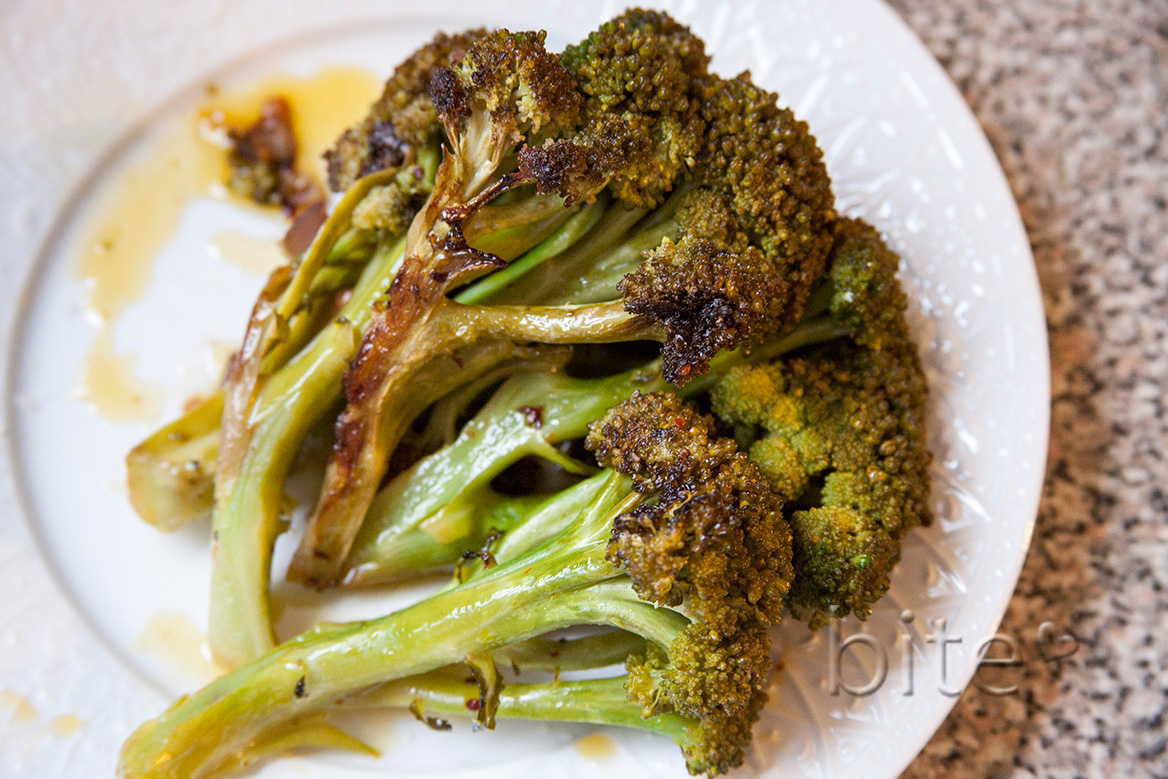 fresh broccoli poached in olive oil and a barn raising – kind of…