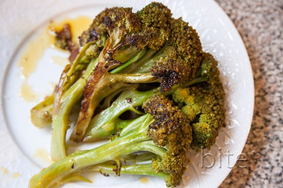 Fresh Broccoli Poached in Olive Oil