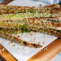 crispy asparagus fries / bitebymichelle.com