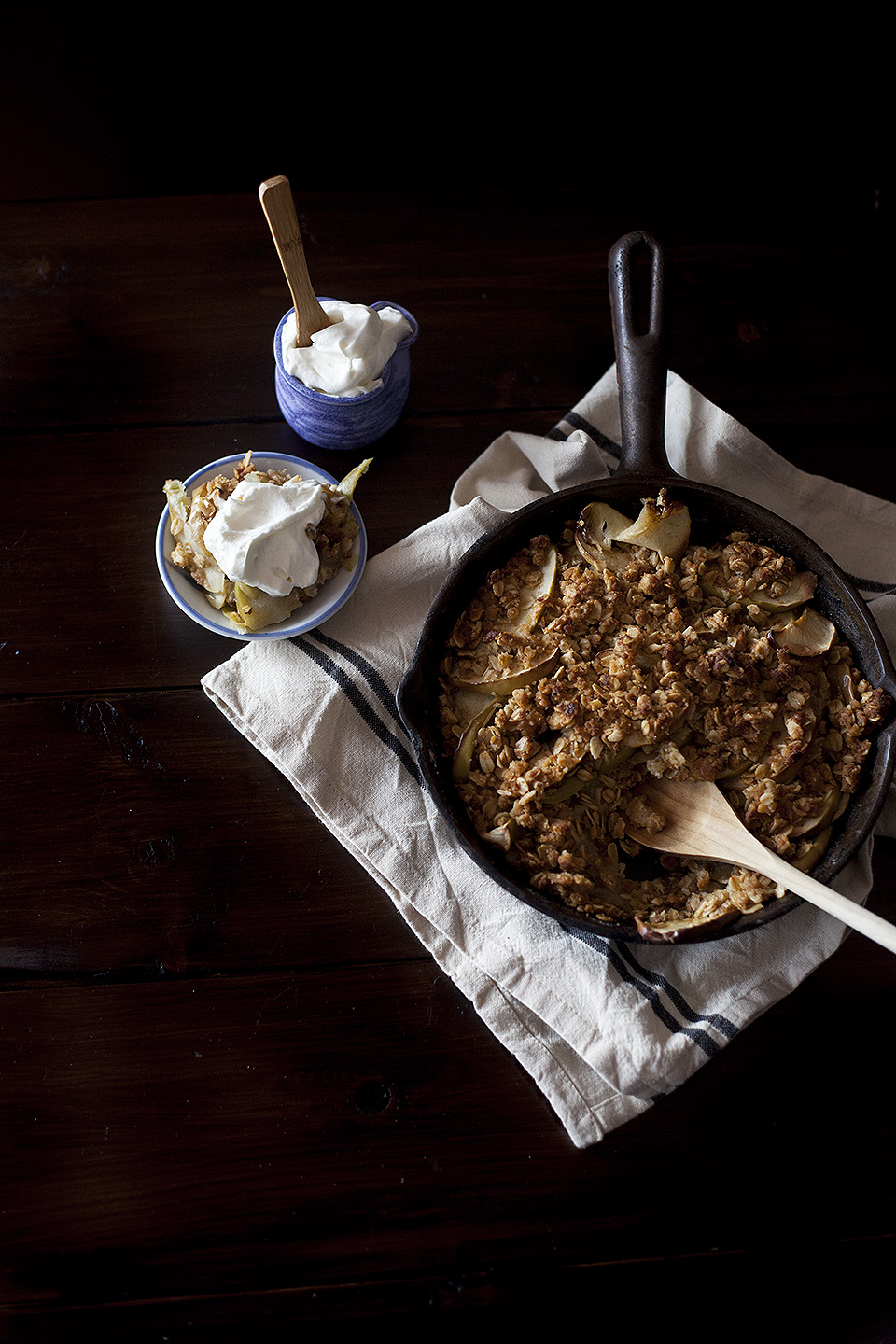apple crisp - cast iron skillet recipe