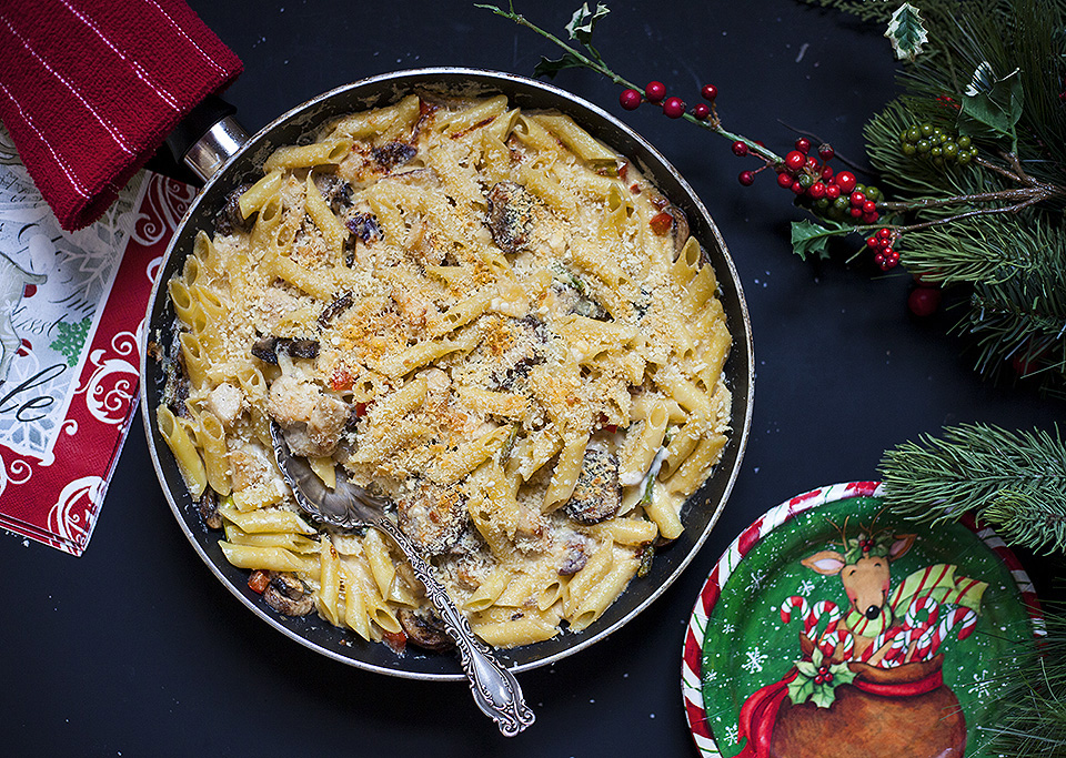 baked chicken alfredo - a holiday pot-luck casserole
