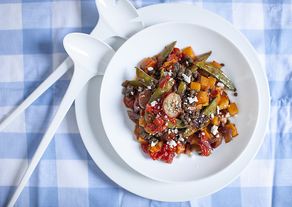winter ratatouille with french de puy lentils - dad / bitebymichelle.com