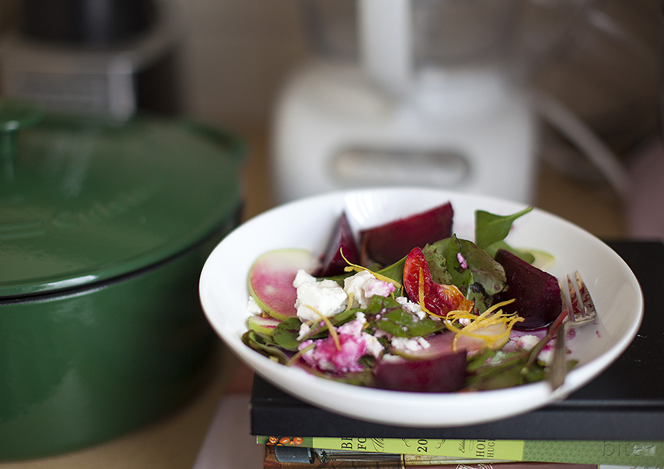 roasted beet and candied clemetine salad - you can't plan magic / bitebymichelle.com