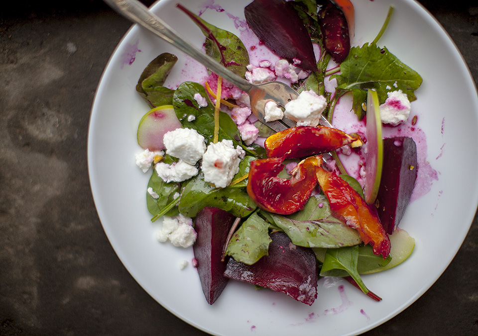roasted beet and candied clemetine salad – you can't plan magic