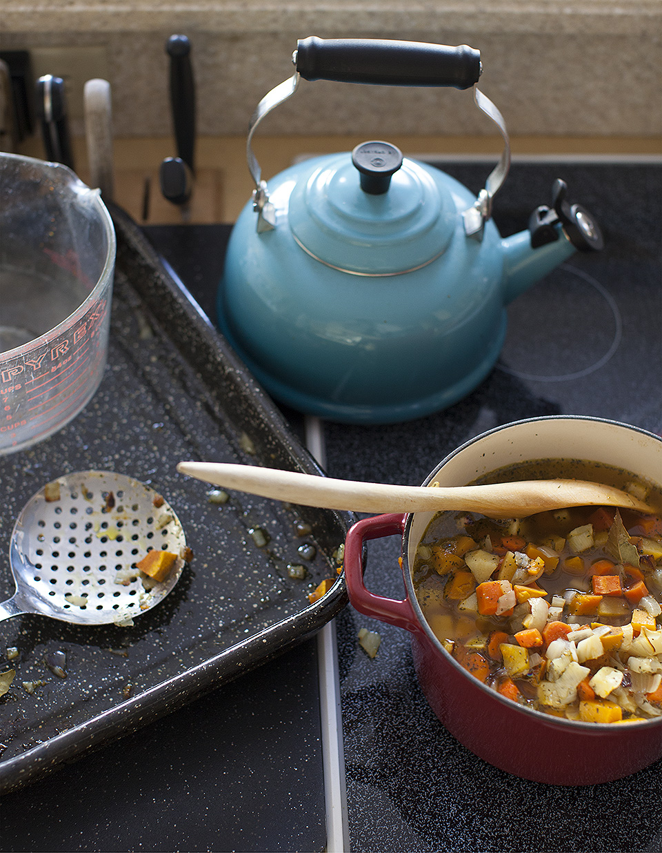 storm day vegetable soup - quick and easy / bitebymichelle.com