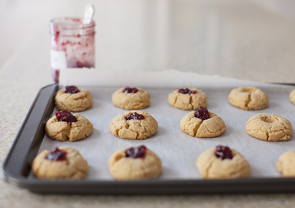 peanut butter and jam thumbprints - can't stop eating them
