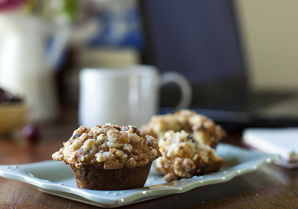 banana chocolate chip skor bit muffins - bitebymichelle.com