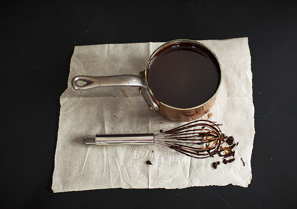 hot fudge sauce - two ingredients, ready in five minutes - bitebymichelle.com