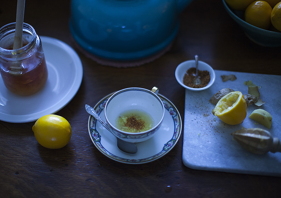 lemon ginger cayenne tea - time to begin again - bite