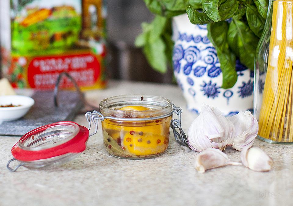 preserved lemon, basil and chicken pasta - bitebymichelle.com