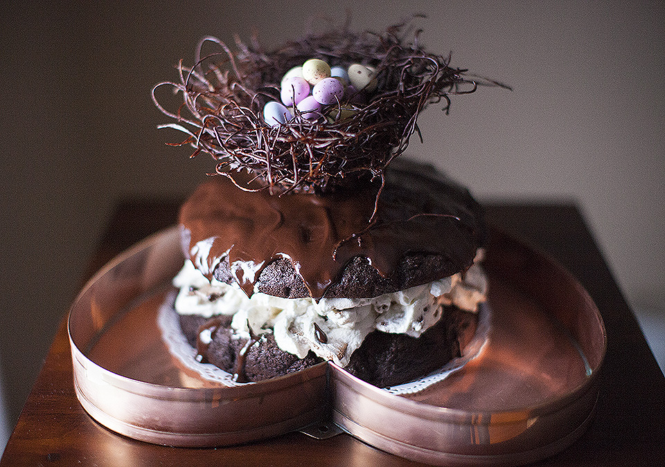 easter egg chocolate cake - I'm not super mom - bitebymichelle.com