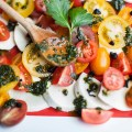 black garlic caprese salad l bitebymichelle.com