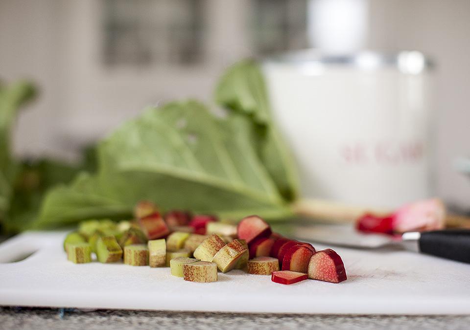 strawberry rhubarb sorbet - tart and fresh l bitebymichelle.com
