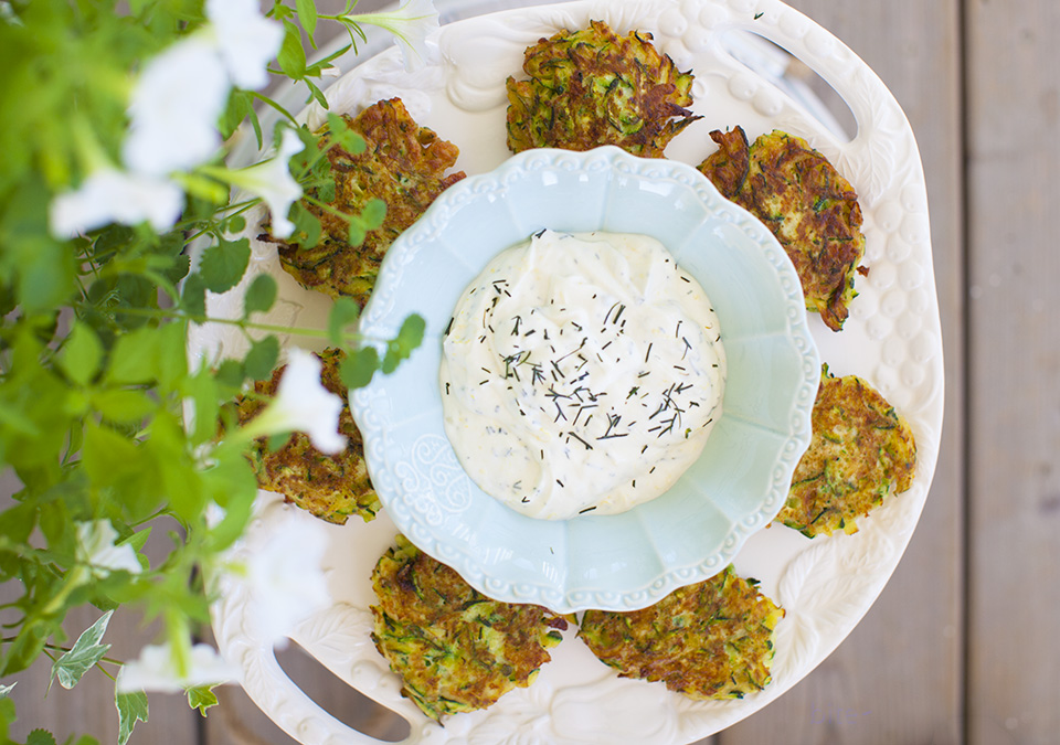 zucchini fritters – a great way to use up the extra
