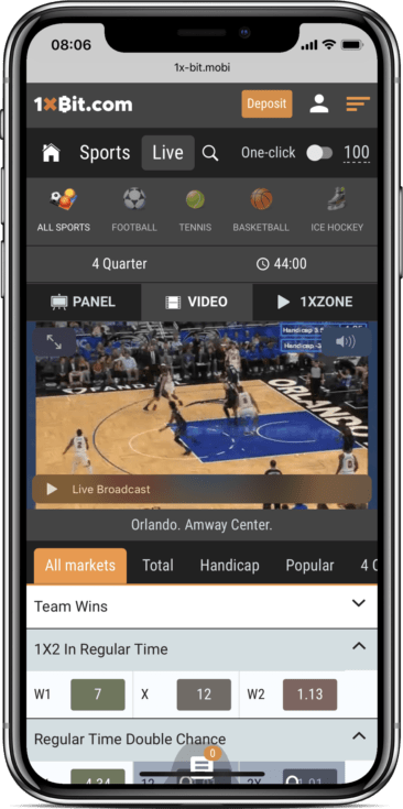 1xbit live bet mobile