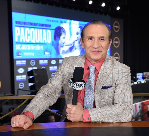 LAS VEGAS - JULY 17: Fox Sports' Ray Mancini at the final press conference for the PBC on Fox Sports Pay-Per-View at the MGM Grand on July 17, 2019 in Las Vegas, Nevada. (Photo by Frank Micelotta/Fox Sports/PictureGroup)