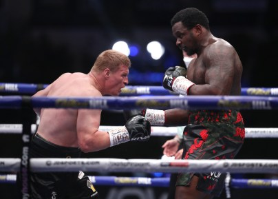 HANDOUT PICTURE COMPLIMENTS OF MATCHROOM BOXING Dillian Whyte vs Alexander Povetkin, WBC Diamond Belt Title fight. 22 August 2020 Picture By Mark Robinson.