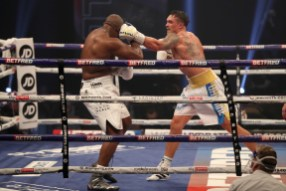 HANDOUT PICTURE COMPLIMENTS OF MATCHROOM BOXING Oleksandr Usyk vs Derek Chisora, Heavyweight Contest. 31 October 2020 Picture By Mark Robinson.