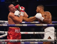 HANDOUT PICTURE COMPLIMENTS OF MATCHROOM BOXING Anthony Joshua vs Kubrat Pulev, IBF, WBA, WBO & IBO World Title. 12 December 2020 Picture By Dave Thompson