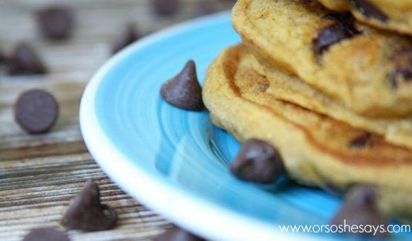 Pumpkin Chocolate Chip Pancakes | Easy Recipe