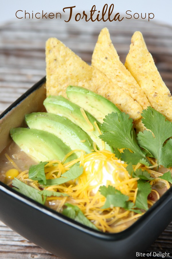 The Best Chicken Tortilla Soup | easy recipe