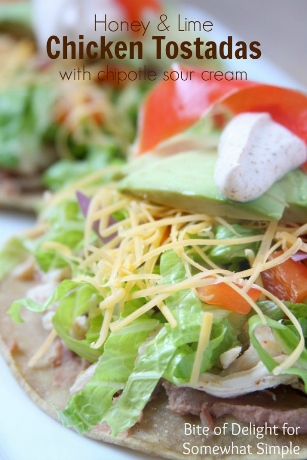 Honey & Lime Chicken Tostadas | easy recipe