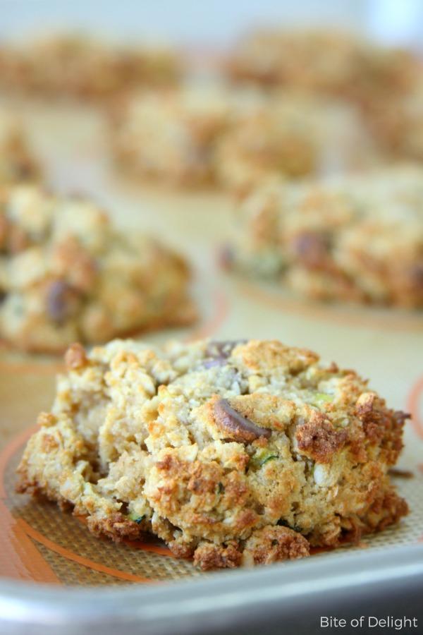 Gluten-Free Zucchini Chocolate Chip Cookies   Easy Recipe   Treat