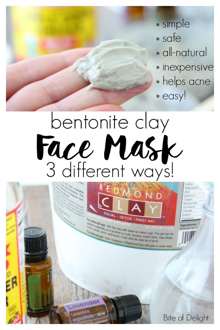 Bentonite Clay Mask 3 Ways! This simple and inexpensive mud mask will be your new favorite way to pamper your delicate skin! | Beauty Recipe | All Natural