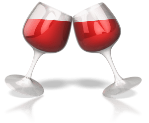 Pic of two wine glasses clinking