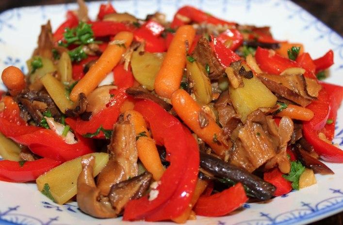 Oyster mushroom stir fry recipe. biteslife.com