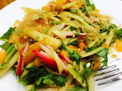 cold-noodle-salad-served